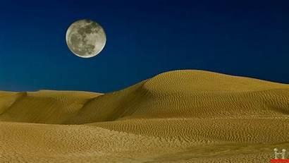 Desert Dunes Sand Moon Wallpapers Desktop Scenery