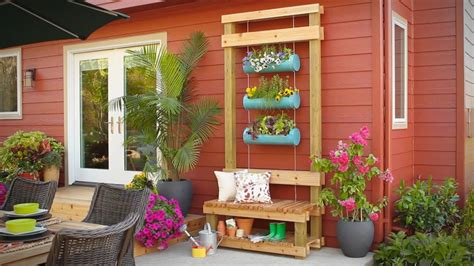 outdoor planter bench youtube