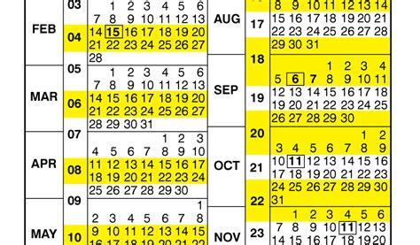nfc  pay period calendar payroll calendar