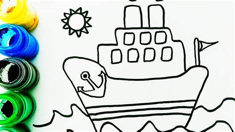 Barcos Para Dibujar Y Colorear by C 243 Mo Dibujar Y Colorear Un Barco De Vela Aprender Librea
