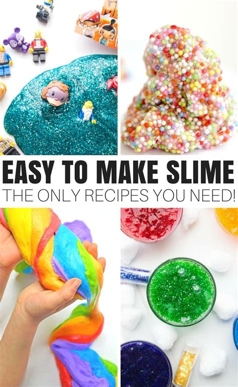 How To Make Slime With Glue  Elmer's Glue Slime Recipe