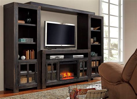 Gavelston Entertainment Wall With Fireplace Option From