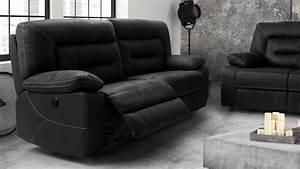 canape relax electrique tissu nubuck gris 3 places adana With tapis exterieur avec canapé relax tissu 2 places