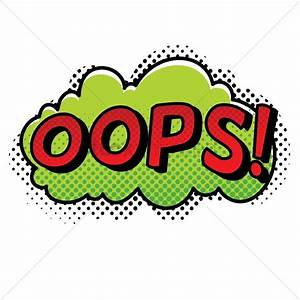 Oops text with comic effect Vector Image - 1823011 ...