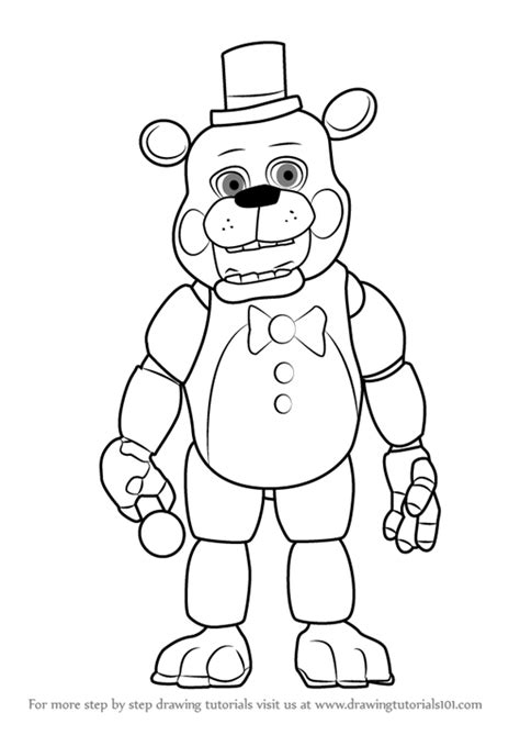 disegni da colorare animatronics how to draw five nights at freddy s the expert