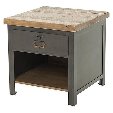 bed bath and beyond side table beekman 1802 klinkart side table bed bath beyond