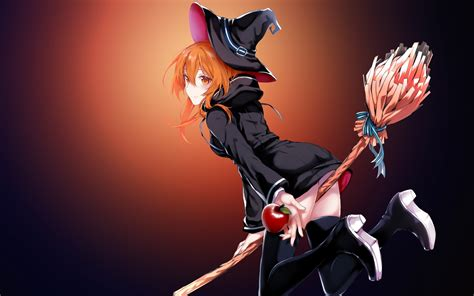 Anime Witch Wallpaper - wallpaper anime witch magic 4k anime 4928