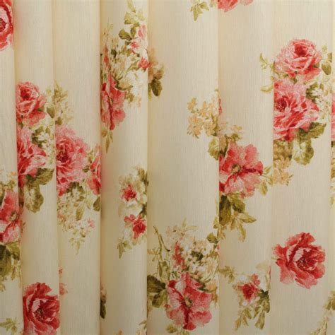 vintage drapery fabric vintage chintz shabby roses print retro 100 cotton