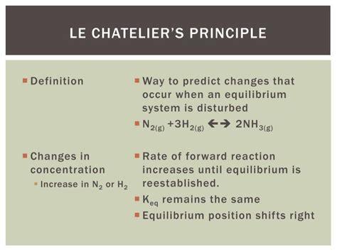 PPT - Le Chatelier's Principle PowerPoint Presentation ...