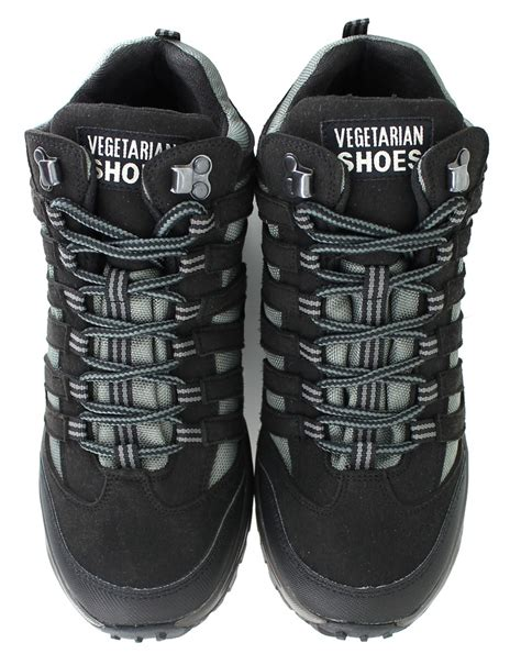 vegan hiking boot vegetarian shoes approach mid black