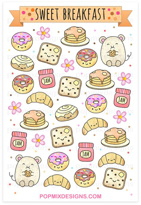 stickers ecriture cuisine http popmixdesigns com item breakfast stickers i