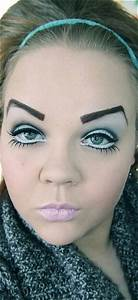 Not pretty | Horrible eyebrows and chola/ ratchet makeup ...