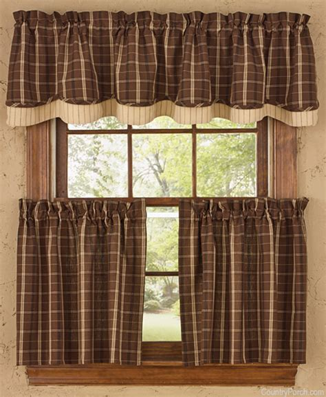 country kitchen pictures lined layered curtain valance