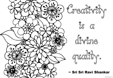 coloring for creativity creativity quotes coloring pages by sri sri ravi shankar