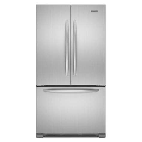 Cabinet Depth Door Refrigerator Stainless by 21 8cu Kitchenaid Counter Depth Trio Door