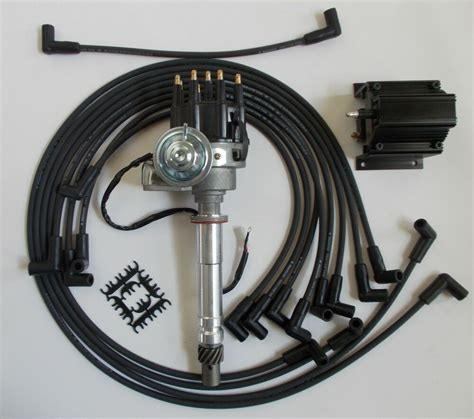 small block chevy 350 black small hei distributor coil wires exhaust ebay