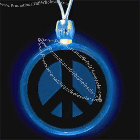 pin peace sign light on