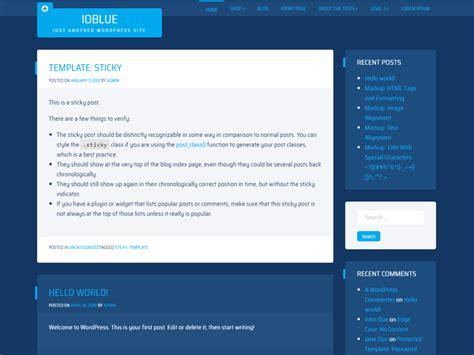ioblue wordpress theme wordpressorg