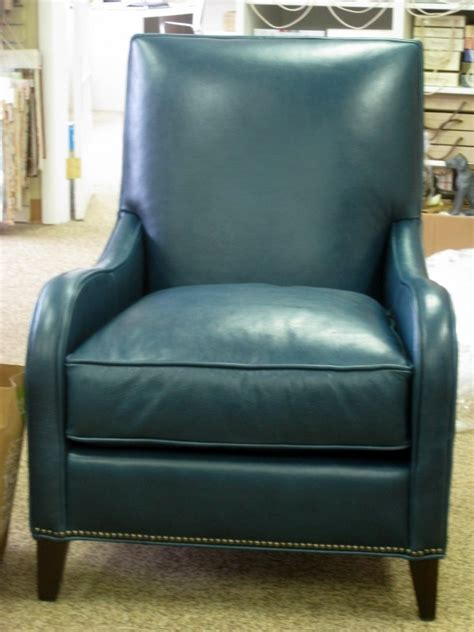 teal leather chair for the home