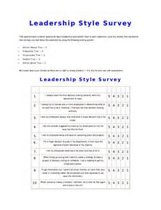 Situational Leadership Styles Questionnaire