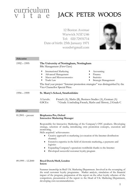 German Resume Photo Size by Curriculum Vitae Curriculum Vitae Template Germany