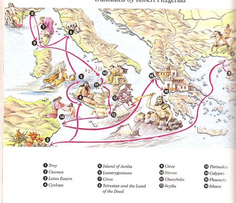 Map/Story Summaries - The Odyssey