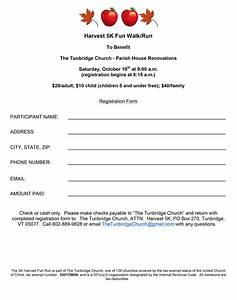5k registration forms or forms are available at With participant registration form template