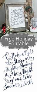17 best images about free wall printables on pinterest With what kind of paint to use on kitchen cabinets for o holy night wall art