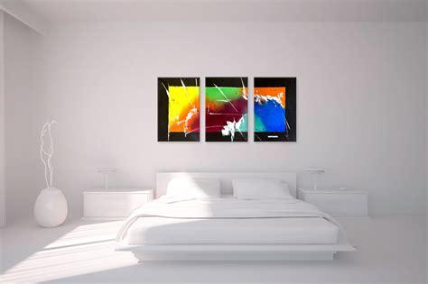bureau contemporain pas cher triptyque contemporain panoramique multicolore tendance