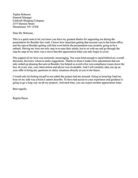 appreciation letter letter samples examples