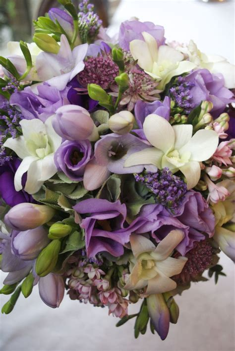 Claire And Anthony Purple Wedding Flowers At Etrop Grange