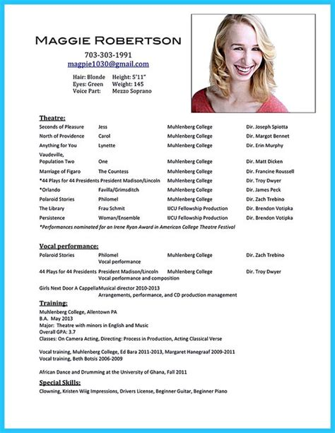 Talent Resume Objective by Summary Resume And Presents On