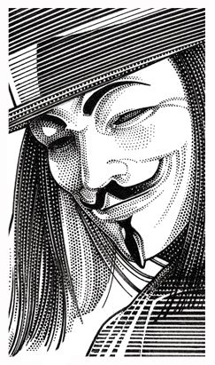 hugo weaving guy fawkes mask wall street journal hedcut of guy fawkes