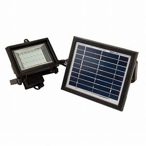 Led solar powered outdoor security flood light