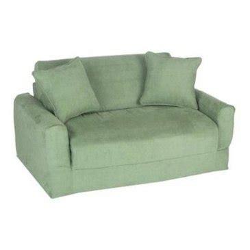 Fun Furnishings Micro Suede Sofa Sleeper In Green