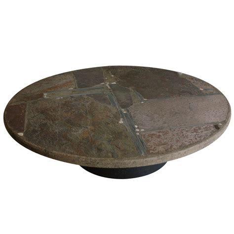paul kingma slate stone coffee table at 1stdibs