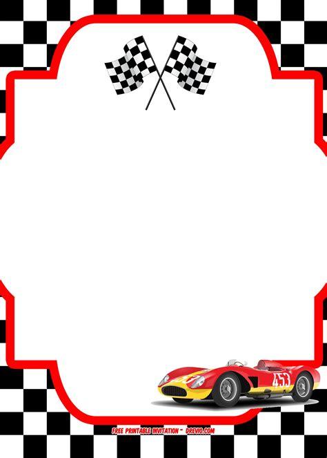 Blank Race Car Templates Free Printable Race Car Invitation Templates Bagvania