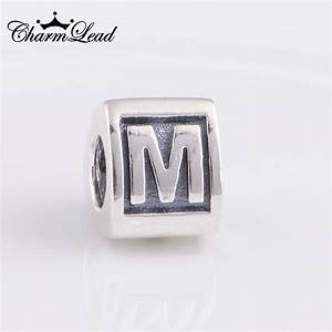 Aliexpresscom buy fit pandora bracelet charms alphabet for Pandora bracelet letter charms