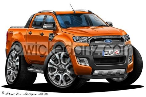 ford ranger  wildtrak pick   orange dk