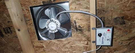 gable end attic exhaust fans ventilating an attic for mold prevention environix