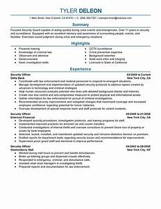 sample resume for security officer sample resume With cv security