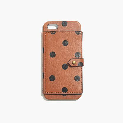 madewell iphone leather wallet for iphone 174 5 5s in dot