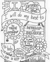 Brownie Scout Law Coloring Quest Pages Promise Daisy sketch template