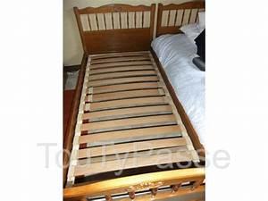Lits Jumeaux Adultes : 2 lits jumeaux dimensions adultes roussy le village 57330 ~ Melissatoandfro.com Idées de Décoration