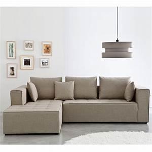Canape Convertible Beige : canape beige ~ Teatrodelosmanantiales.com Idées de Décoration