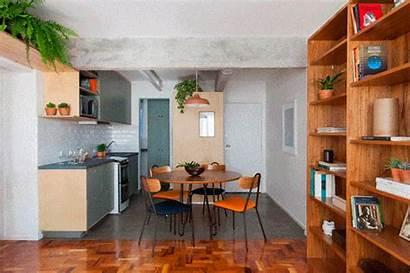 Apartamento Antigo Cozinha Um Sorte Bambu Reforma