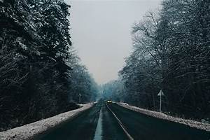 Nature, Winter, Road, Trees, Snow, Landscape, Wallpapers, Hd, Desktop, And, Mobile, Backgrounds