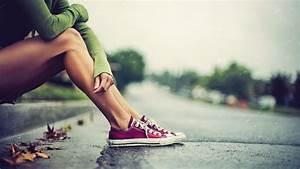 Women, Converse, Legs, Leaves, Rain, Wallpapers, Hd, Desktop, And, Mobile, Backgrounds