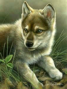 Anime Wolf Pups
