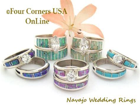 engagement bridal rings navajo wedding bands four